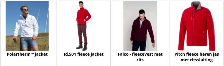 fleece jassen bedrukken