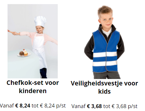 kinderwerkkleding bedrukken