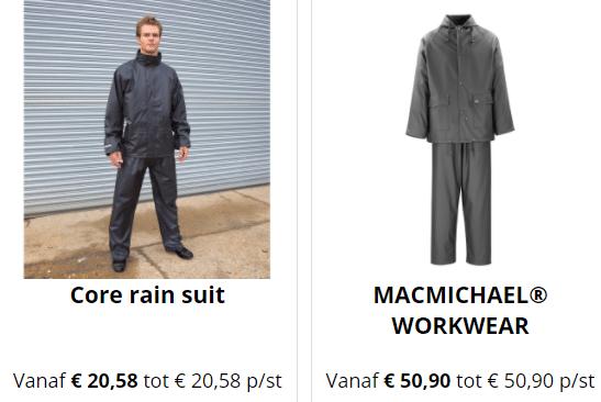 Regenbroek Werkkleding