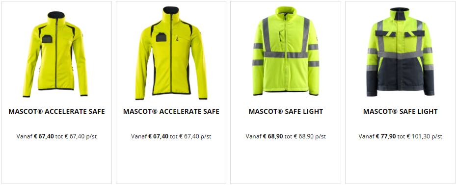 werkkledij geel
