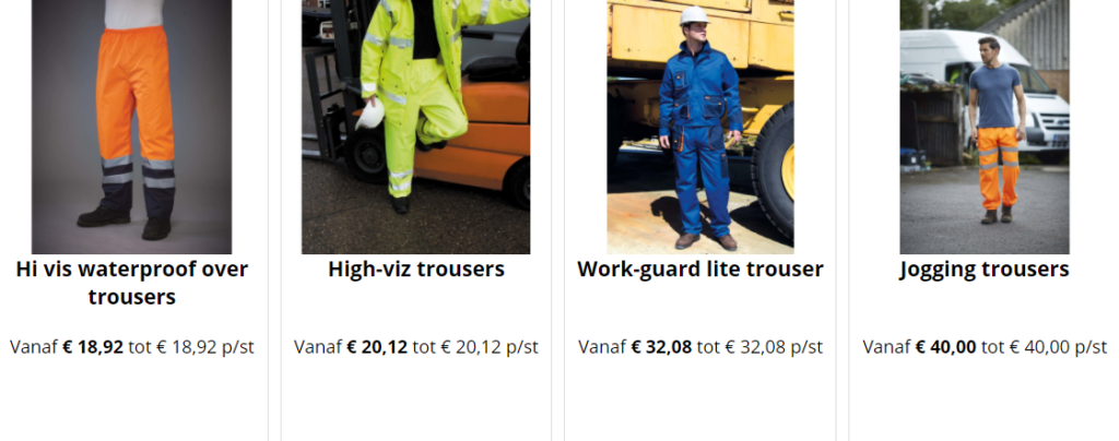 oranje werkkleding bedrukken